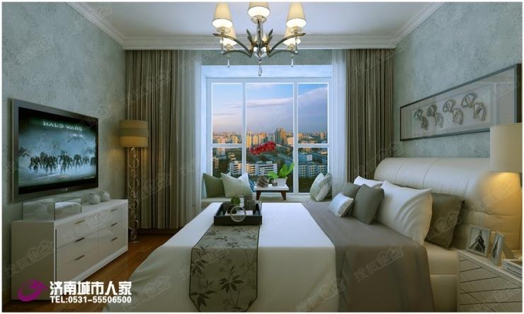 影视墙硬包与黑色烤漆玻璃及金属线条相搭配,充分体现简约时尚.