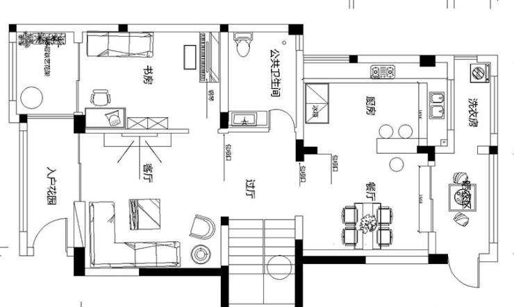 碧桂园翡翠湾400平五室别墅装修设计平面图——美巢装饰