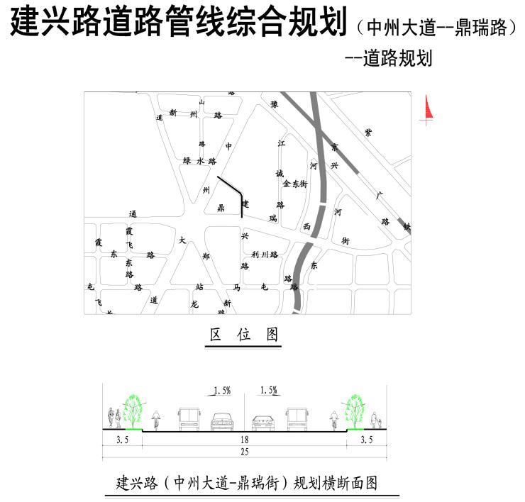 规划为东西向城市支路,无现状路,规划红线宽20m,规划断面形式为20m-3.