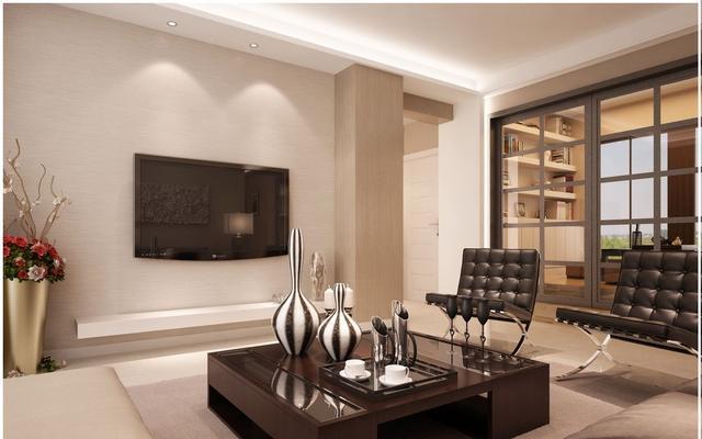 成都出租房装修电视墙装修效果图大全90平米第二层房间设计图图片