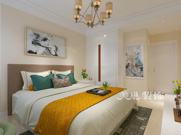恒大山水城128平三室两厅户型装修设计家具图——美巢装饰