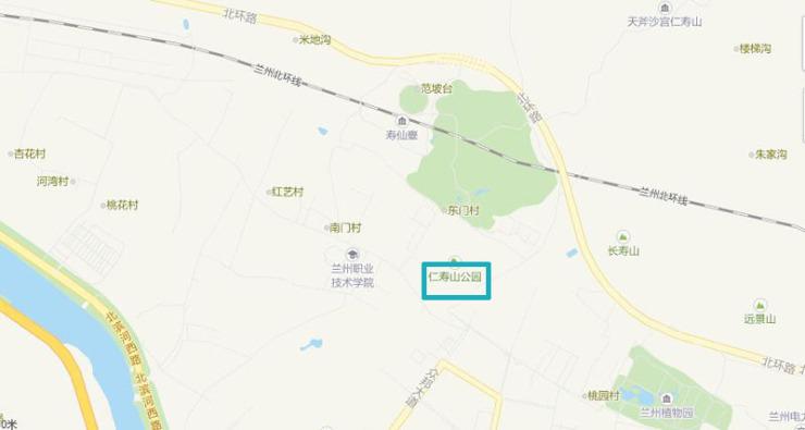 兰州景区地图高清版