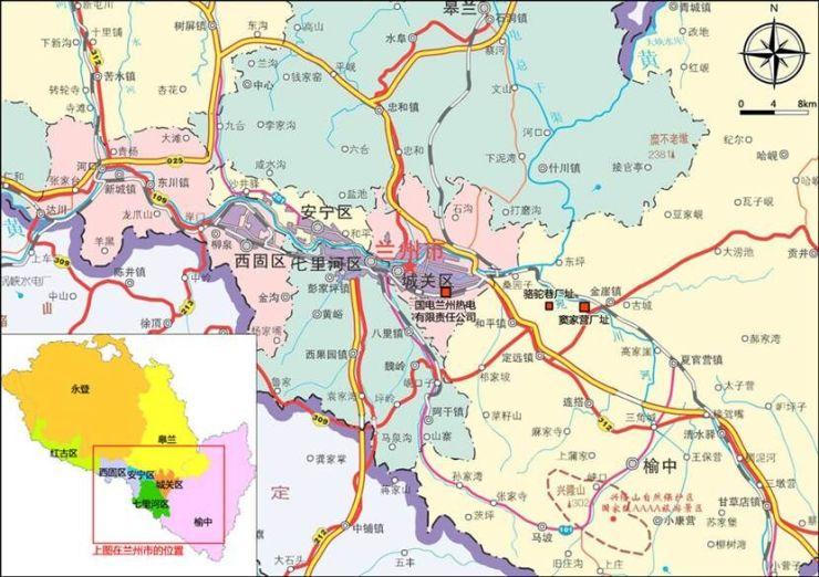 榆中地图全图高清版