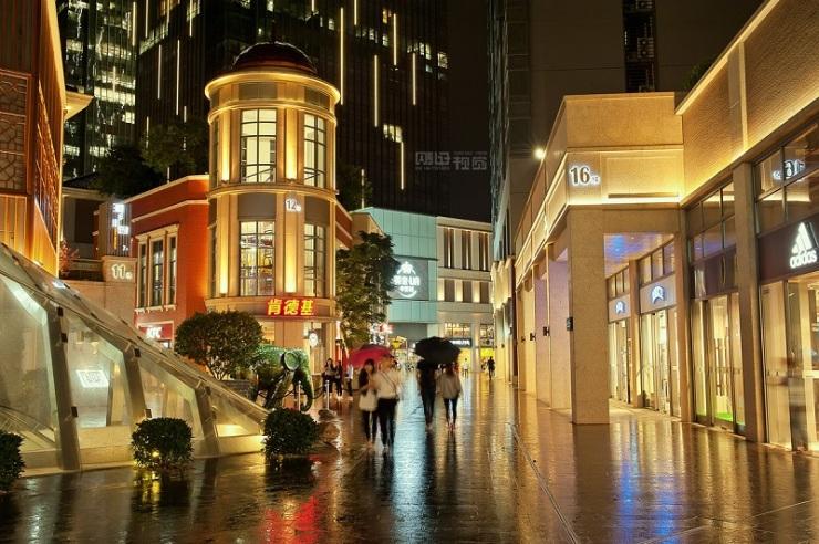 富华里商业街区(夜景图)
