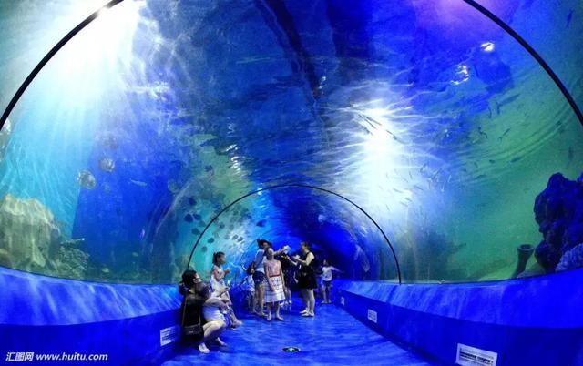海悦城极地海洋世界主体四层,地下一层为鱼类展示场馆,地上三层为海洋