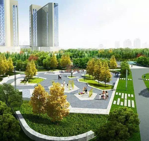 杨柳街三角绿地景观绿化工程图片