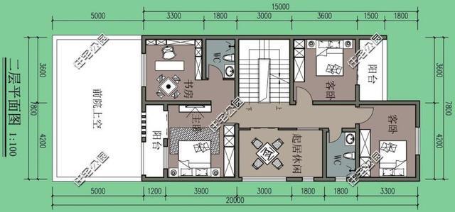 农村建房7.8米x15米左侧无窗,这个设计可以有,含效果图平面图