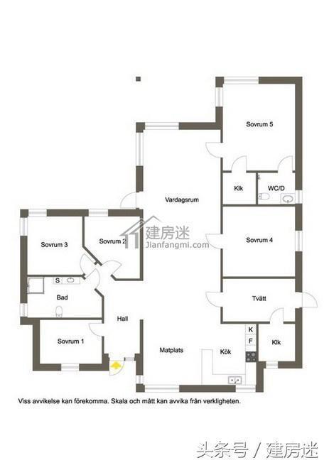 180平米大平层斜顶美式简约风格房屋设计图