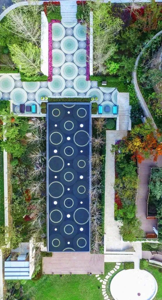 中秋特辑丨弧形的景观设计圆圆坡道筏板的绘制图片