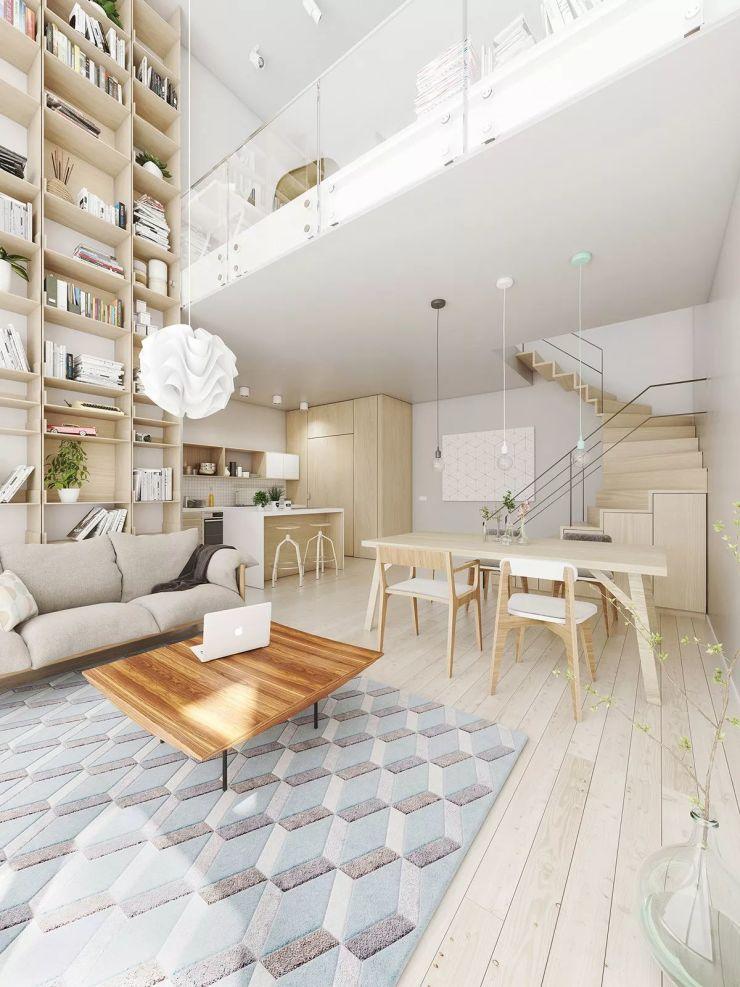 25款挑高客厅设计案例,单身公寓装修参考!
