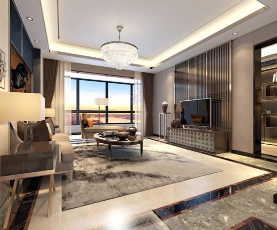 中建·宜昌之星建筑面积约169㎡户型客厅效果图