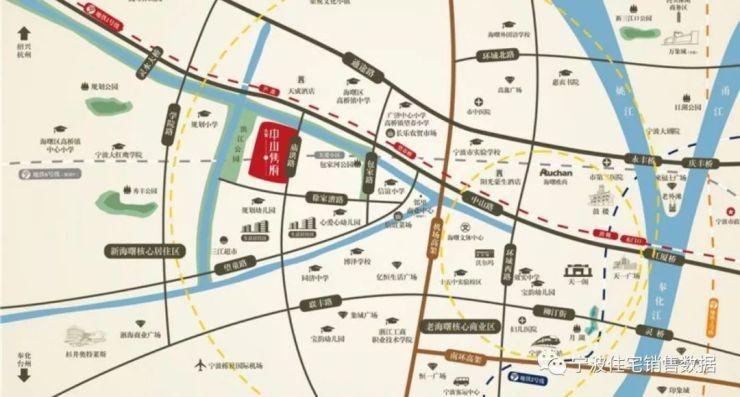 交通情况 大发中山隽府位于宁波海曙徐家漕路与庙洪路交叉口,地铁1号