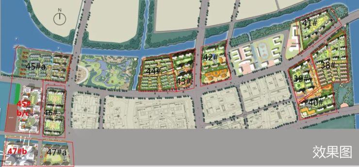 杭州湾新区地图(橙色为已获取的绿地海湾)