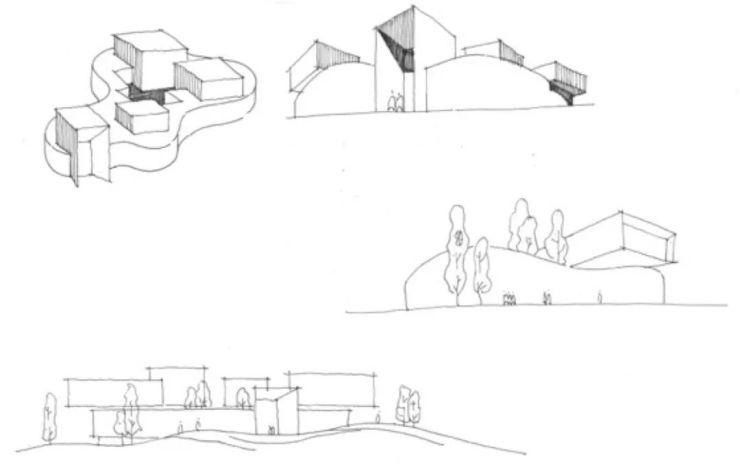 虚实变幻 图书馆设计之初,由立方体为始,通过不同的构造手法,经由减缺图片