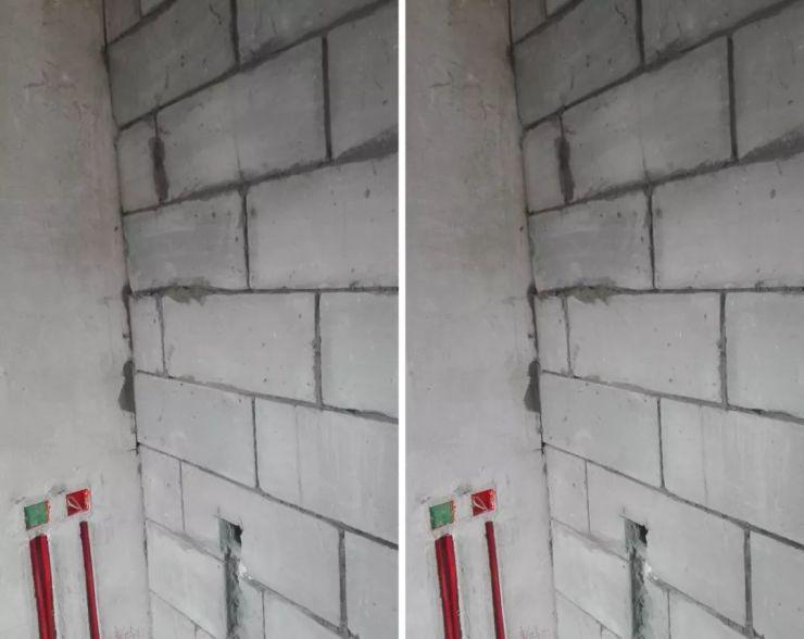 砌墙之后都需要做挂网抹灰找平处理,使墙面更平整,而且不抹灰油漆也上