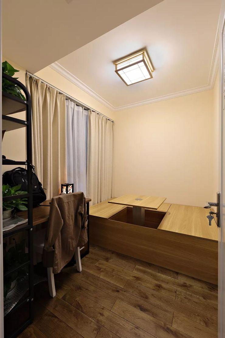 89㎡现代美式,好喜欢这张皮沙发,优雅!图片