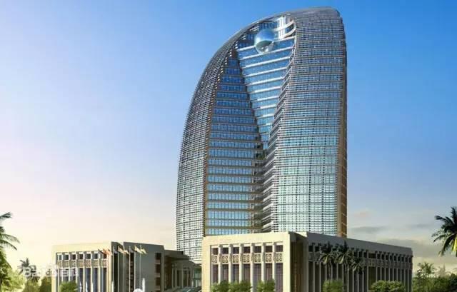 而海口的海航国际广场雄踞楼高249米 对比起双子塔428.