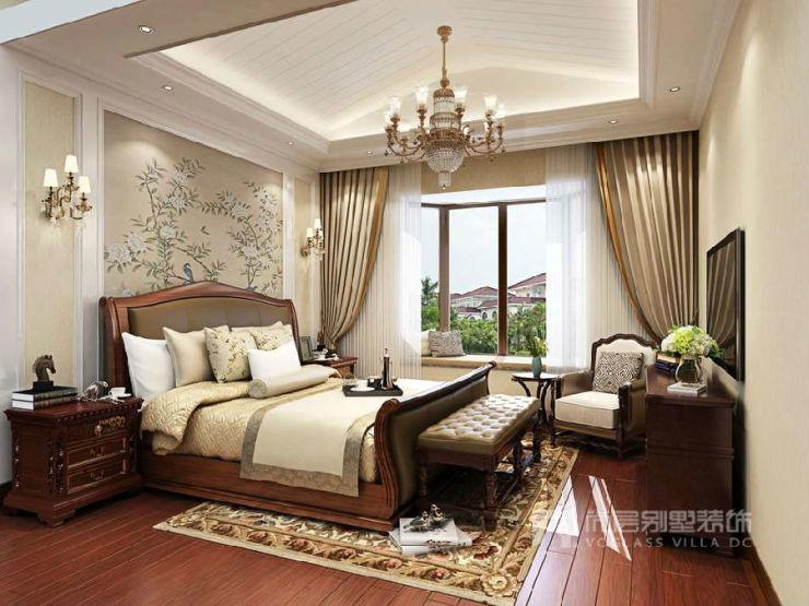 香江别墅美式卧室装修效果图
