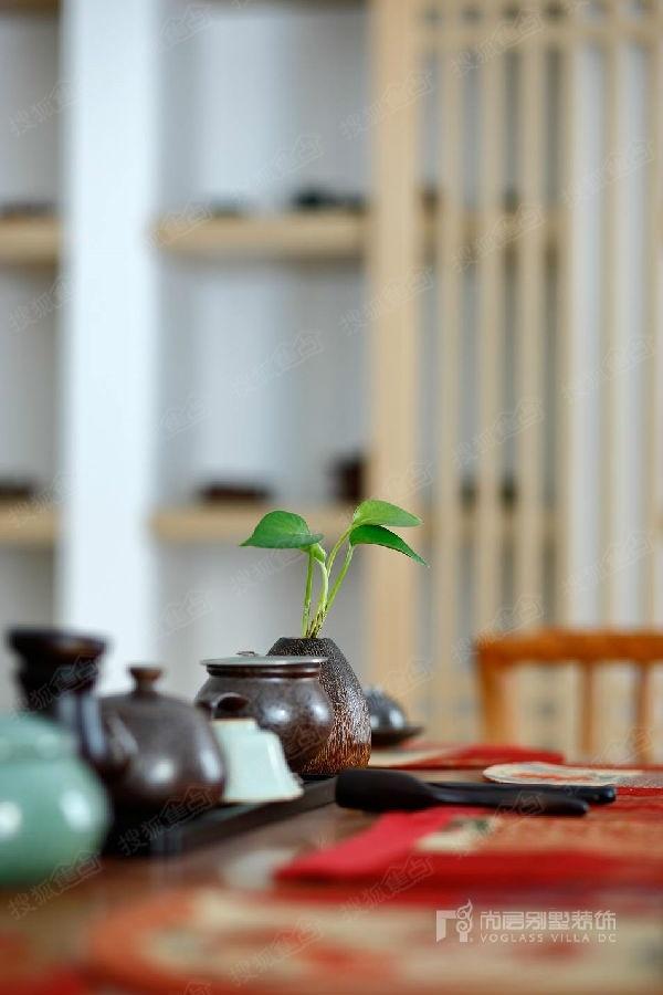 瓦尔登湖别墅北美乡村风格茶室装修实景图