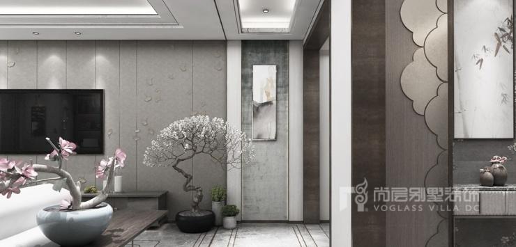 翡翠山别墅混搭客厅装修效果图
