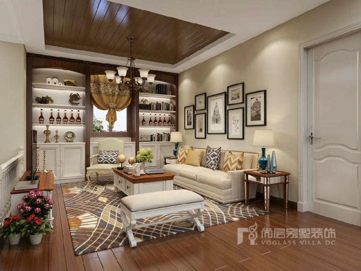 香江别墅美式家庭室装修效果图