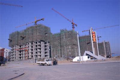 12月6日开盘销售的三栋楼施工进度