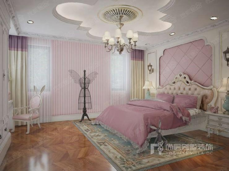 誉天下别墅法式女儿房装修效果图