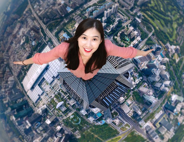Free Sky云际观光层开放 在541米高空俯瞰大美深圳