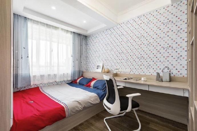 蕪湖赭園小區128㎡現代簡約風格裝修設計