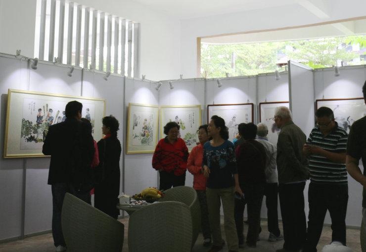 圣河灣文化節——裕發業主書畫作品展正式開幕