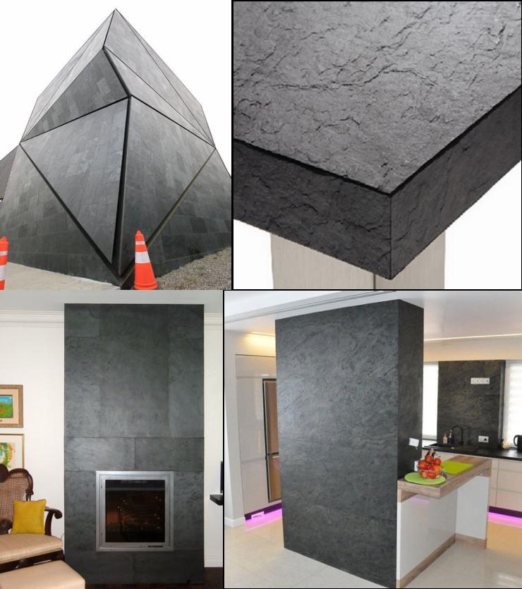 太low, 背景墙还采用壁纸硅藻泥?好采用天然石薄板了