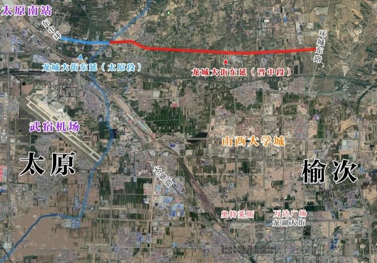 太原到晋中再添一条快速路 龙城大街东延初步建成