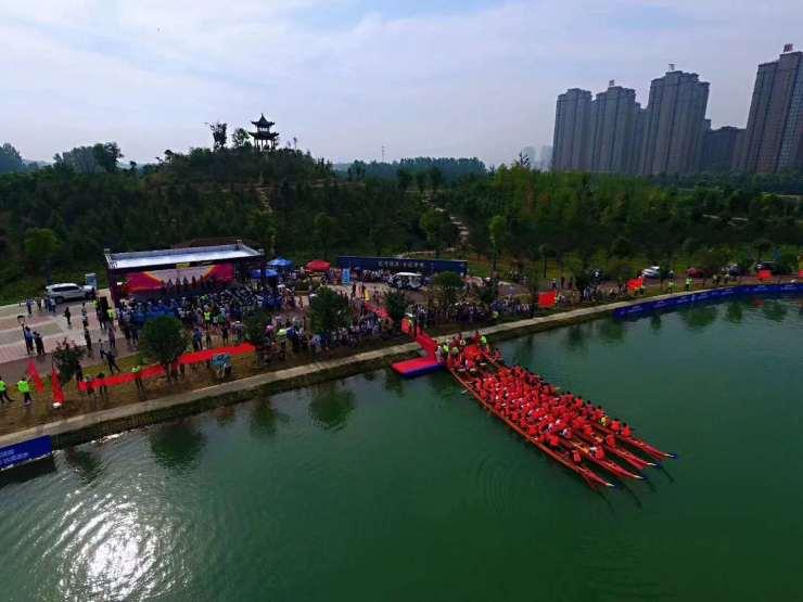 许昌市第八届运动会暨首届全民健身大会成年组龙舟赛隆重举行