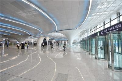 北京最大!环球度假区地铁站亮相 体积是一般地铁站的3倍
