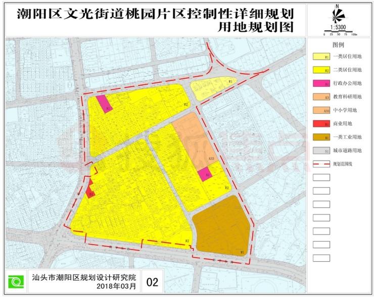 潮阳区文光街道桃园片区控制性详细规划审批公示