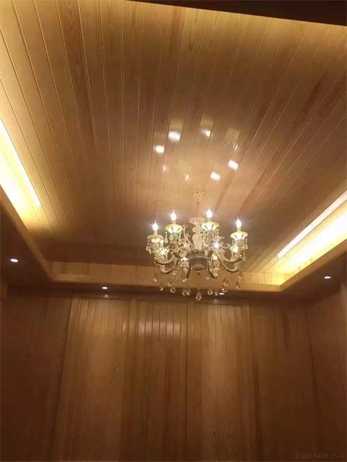 赤松免漆扣板室内吊顶装饰太美了!