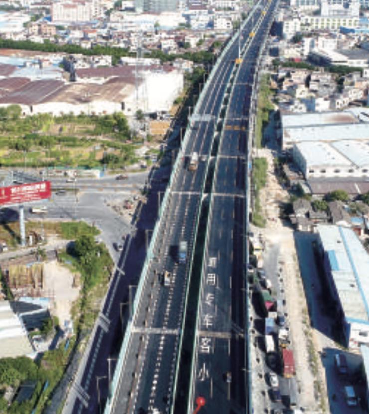 顺德快速干线路网再添新兵  红旗路快速化改造工程主线桥昨通车