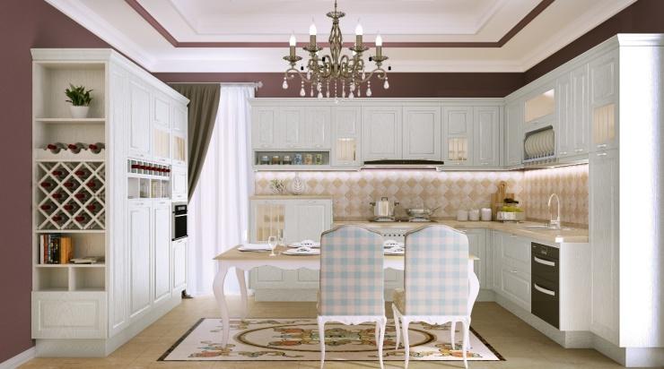 箭牌櫥柜簡歐風格——摒棄奢華的簡約與浪漫