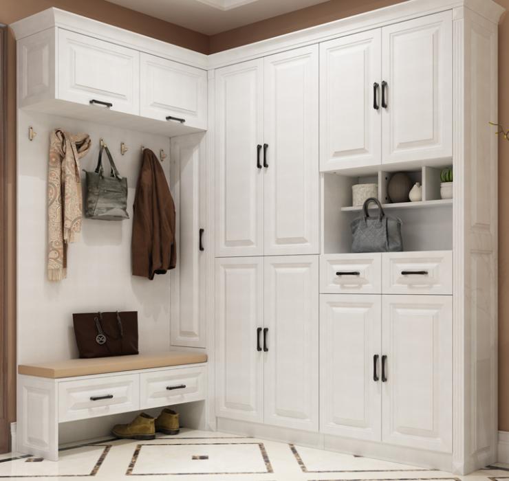 定制鞋柜和其他柜組合,收納強實用簡潔又大方!