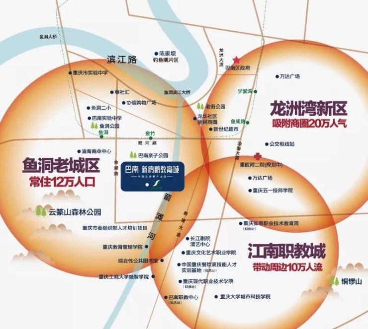 巴南新鸥鹏教育城,全新商业模式成巴南商圈新贵