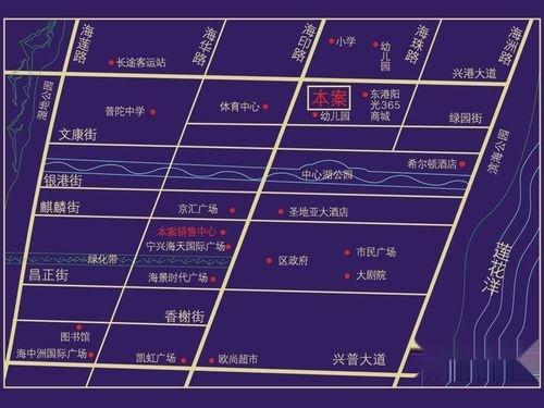 海洲一品花园交通图交通示意图