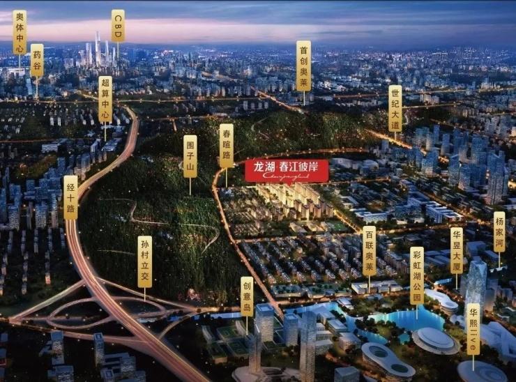 龙湖·春江彼岸|湖山下的醇熟大城,纵享都市品质人居