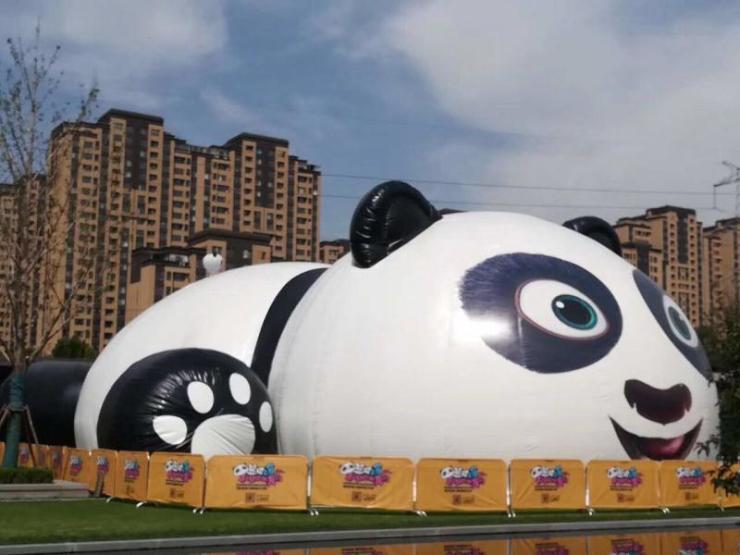 20米巨型熊猫空降邢台,国庆带着孩子来这里玩