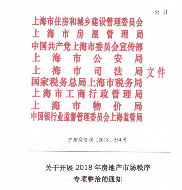 重拳出击!上海九部门联合整治房地产乱象
