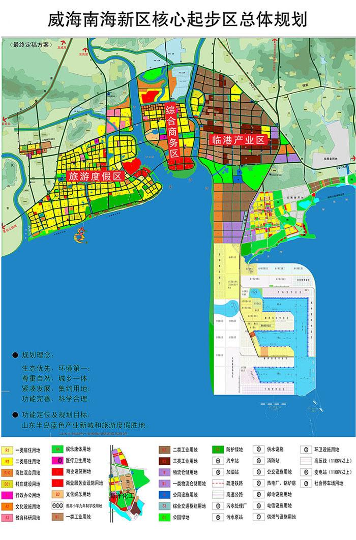 威海南海新区规划及发展