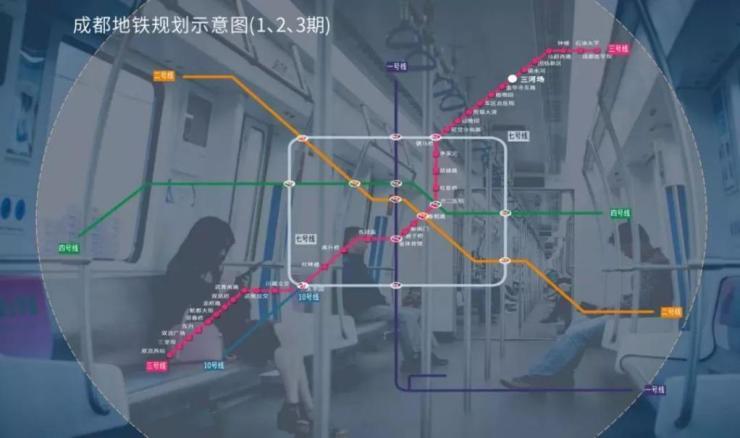 地铁三号线直线畅达,便享沿途缤纷资源