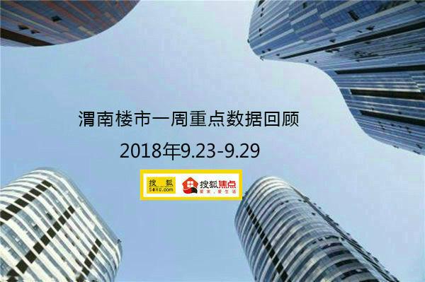 渭南楼市一周重点数据回顾 18.9.23—18.9.29