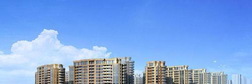 绿城蔚蓝公寓效果图南面视角