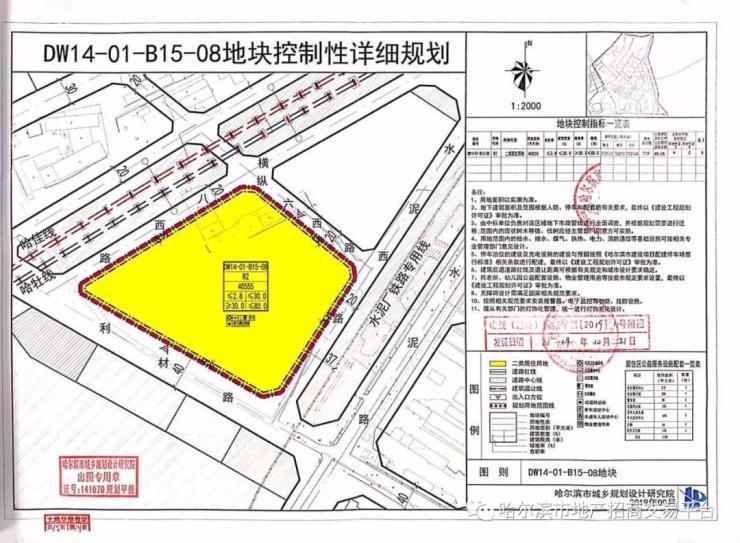 汇龙摘道外2宗商住用地 成交楼面价3120.2元/㎡起哈尔滨插图(4)