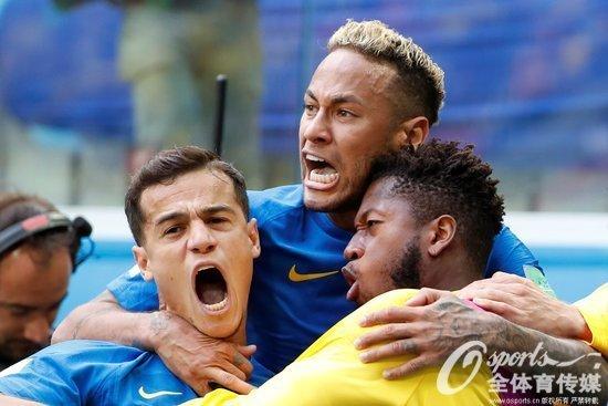 库里尼奥、内马尔补时两连击 巴西2